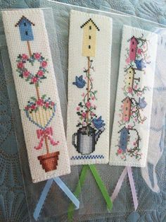 Finished Cross Stitch Bookmark, 'My Backyard Flower III Cross Stitch Bookmark Handmade, Gift for Bookworm Finished Cross Stitch Bookmark My Backyard Flower III Cute Gifts For Friends, Handmade Gifts For Friends, Gifts For Bookworms, Cross Stitching, Cross Stitch Embroidery, Cross Stitch Patterns, Crochet Bookmarks, Cross Stitch Bookmarks, Handmade Bookmarks