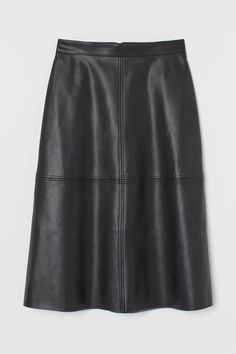 Leather A Line Skirt, Faux Leather Skirt, Black Faux Leather, Leather Skirts, Leather Pants, Cute Skirts, A Line Skirts, Punk Fashion, Fashion Tips