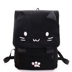 1c1af19663f Backpacks #MF060 Κινούμενα Σχέδια, Μοτίβα, Μαύρο, Κοριτσάκια, Cat Women