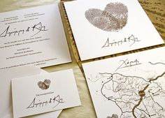 Atelier invitations -www. Love4Weddings.gr | Design by: http://www.atelier-invitations.gr/ #fingerprint hearts #finerprints