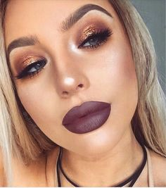 I am no fan of these brows lips and shiny nose highlighter