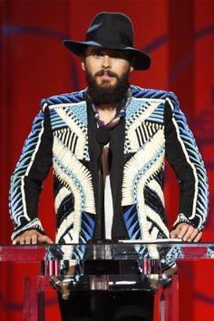 Jared Leto Pairs Balmain With Man Bun on the 2015 Spirit Awards Red Carpet