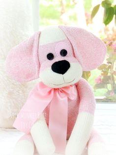 Child's Toy, Berry-Patch Puppy, Sock Monkey Dog Doll, Strawberry Patch