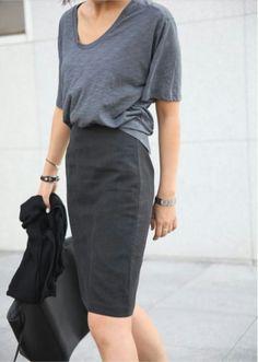 летний базовый гардероб, футболки, серая футболка