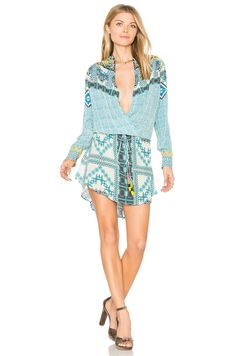 ROCOCO SAND Printed Mini Dress in Green