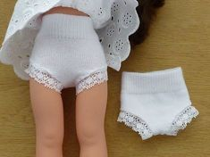 Baby Accessories Make doll panties out of baby socks (for Les Chéries or - American Girl Dolls Sewing Doll Clothes, Sewing Dolls, Girl Doll Clothes, Doll Clothes Patterns, Clothing Patterns, Girl Dolls, Barbie Dolls, Ag Dolls, Sewing Patterns