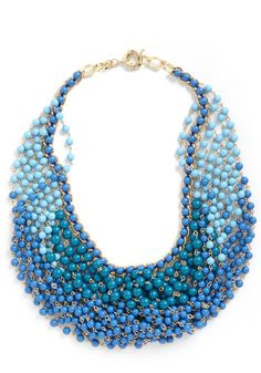 Statement of the Art Necklace in Azure, #ModCloth