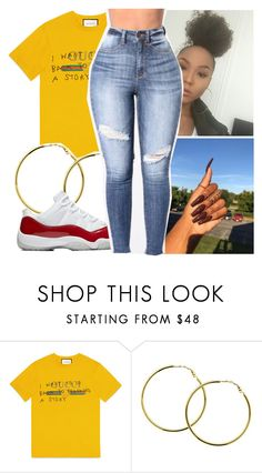 """ -CONTEST- "" by bxtchslayy ❤ liked on Polyvore featuring Gucci and Melissa Odabash"