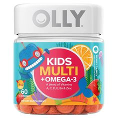 Multivitamin Supplements, Best Multivitamin, Olly Vitamins, Berry Punch, Healthy Brain, Omega 3, Happy Kids, Natural Flavors, Vitamins And Minerals