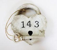 personalized wedding gift LOVE LOCKS 143 cast iron Paris France diy shabby chic wedding decor heart padlock heart lock