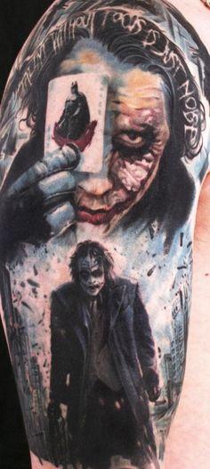 Joker tattoo by Carl Löfqvist