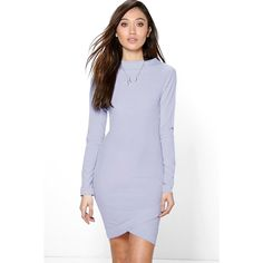 Boohoo Light Blue Dress Trendy light blue colored ribbed dress from Boohoo. Brand new with tags! Size: 10 Boohoo Dresses Mini