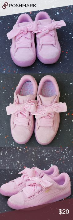 a73b593a3d0fa8 Puma Suede Heart Reset Pink Sneakers Thinking pink is a breeze with these  sweet sneaks!