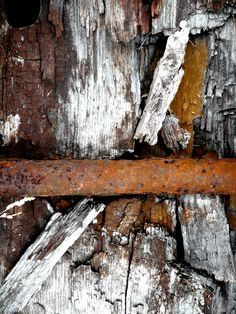 Wood and oxidate iron