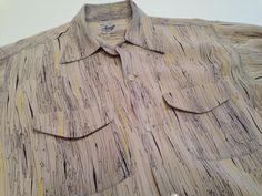 1940's 50's Men's Rayon Gabardine Shirt with a by GabrielasVintage, $295.00