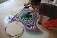 Pour Paintings • Holton Rower