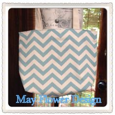 Blue Turquoise Chevron Tote Bag / Beach Bag / Large Tote on Etsy, $30.00