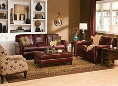 Traditional Leather Living Room Furniture pain color to match burgondy couch | burgundy leather sofas