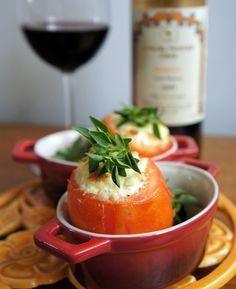 RECEITA: Tomates recheados com creme de queijo