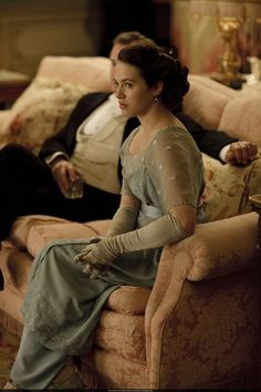 Jessica Brown Findlay as Lady Sybil Crawley in Downton Abbey