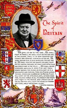 """""""We shall fight on the beaches..."""" Winston Churchill was meant to be where he was at the right time and do what he did at the right time."""