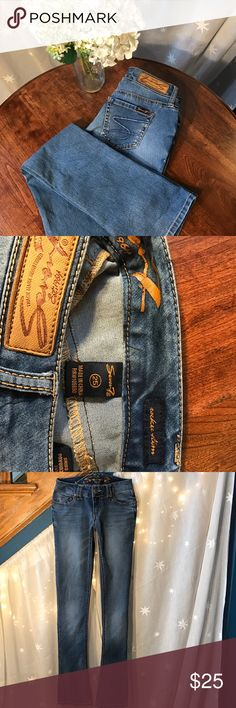 "Seven Jeans size 25/34"" Seven7 Jeans  Slim Rocker Jeans. Low-rise jeans, slim fit with a slight bootcut leg.Belt loop waistband. Zip fly with single-button closure. Classic five-pocket design. Brand patch at rear waist.  Content + Care - 72% cotton, 26% polyester, 2% spandex - Machine wash cold  Size + Fit - Size 25 waist - low-rise 7"", from crotch to top - hip: 16"" - inseam length: 34"" Seven7 Jeans Boot Cut"