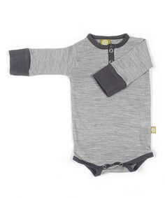 Take a look at this Silver Merino Henley Bodysuit - Infant by Nui Organics on #zulily today!