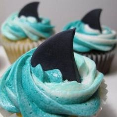 @Ashlee Outsen Hall  shark cupcakes to fulfill your shark week dreams