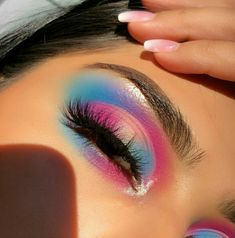 Nizza Pastell Make-up Makeup Eye Looks, Dramatic Eye Makeup, Colorful Eye Makeup, Face Makeup, Cute Eye Makeup, Makeup Goals, Makeup Inspo, Makeup Inspiration, Makeup Ideas