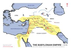 Map of the Babylonian empire circa 600 BC.Mystery of History Volume 1, Lesson 57 #MOHI57