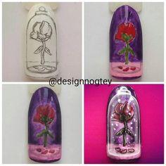 #naildesign #nailart #rosenail