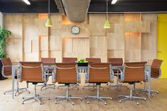 """Wooden Conference Room - """"The Boardroom"""" :) Herman Miller Eames chair"""