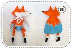 (w/ removable, double-sided cape & articulated appendages!) :D For this project, you will need a panel fat quarter x of Happy Sew Lucky Fab Fox fabric available here. Craft Tutorials, Sewing Tutorials, Sewing Crafts, Sewing Projects, Sewing Patterns, Sewing Tips, Diy Projects, Fox Fabric, Fabric Animals