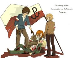 """aph- Kamienie na szaniec by Novvcia.deviantart.com on @deviantART """"From left: Alek, Rudy, Poland, Zośka. When Germany attacked Poland in 1939, they were just 18. They were so much different from each other:Alek- handsome and funny, self-confident, Rudy- very smart, ambitious, Zośka- intelligent, great leader….And still they were all brave, loyal, full of sacrifice. Rudy died-after gestapo(22) Alek died after trying to recuse him(23) Zośka died not so long after calling his dead friends"""""""