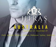 All roads lead to Australia. Book your fittings online www.hiras.com or email info@hiras.com