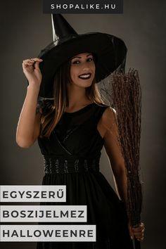 Nem kell drága jelmezt venned halloweenre, hiszen te is könnyedén alkothatsz egy kreatív jelmezt. A népszerű boszorkánymaskara elkészítése nem is lehetne egyszerűbb. Csupán egy fekete ruhára van szükséged. Ha a tradicionális boszorkányok inspirálnak, válassz hosszú ujjú maxiruhát, de ha modern boszi szeretnél lenni, egy csábító koktélruha tökéletes lesz. Fekete csizmával, fekete rúzzsal és kalappal lesz teljes a szett, ez utóbbit akár saját magad is elkészítheted kartonból. #halloween… Diy Halloween, Outfit, Blouse, Black, Tops, Dresses, Women, Fashion, Scary Witch