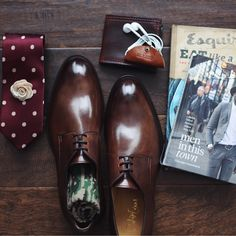 Our Cranberry Polka Dot tie looking good with some friends. Shop this look for just $25 at www.taftclothing.com