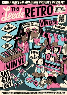 NOO DROWING for the Leeds Retro Festival by Kate Prior