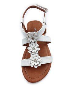 White Mia T-Strap Sandal