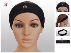 Fashion Lululemon Yoga Headband Black Online for Cheap 2014 Christmas