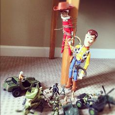Law and Order {elf style} Woody's hat has been recovered.  #elfontheshelf by Talysa, via Flickr