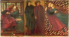 Paolo and Francesca, 1862 (mixed media)