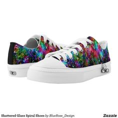 Shattered Glass Spiral Shoes Printed Shoes