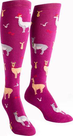 8df51966665 Sock It To Me - Llama Drama Knee High Socks - Buy Online Australia Beserk  Llama