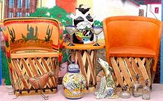 Mexican Pigskin Equipal Furniture