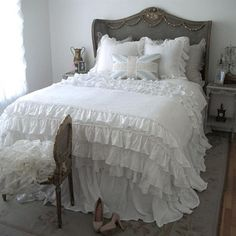 Full Bloom Cottage Lily Ruffle Duvet Cover