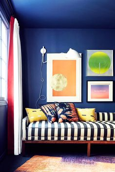 feeling bold and want to step it up  a notch, choose a striped sofa with patterned pillows for added fun factor.