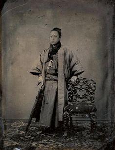 Uchida Kuichi, « Shimazu Uzuhiko », ambrotype, 10,2 x 7,2 cm, 1869, coll. Department of photography, College of Art, Nihon University, Tôkyô. #japon