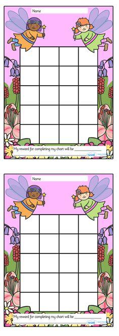 Twinkl Resources >> Fairy Sticker/Stamp Reward Chart  >> Classroom printables for Pre-School, Kindergarten, Elementary School and beyond! Rewards, Sticker Charts, Class Management, Behavior