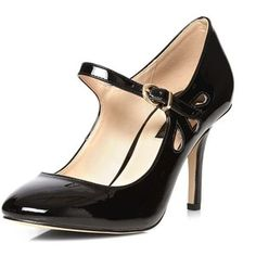Dorothy Perkins Black Clemmy Mary Jane Court Shoes